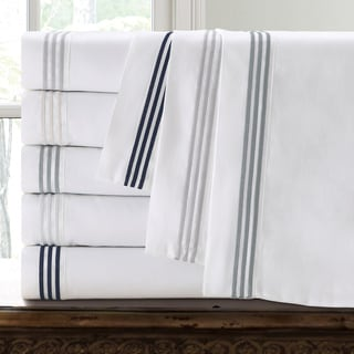 Echelon Home Three Line Hotel Collection Cotton Sateen Pillowcases (Set of 2)