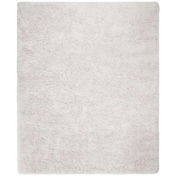 Safavieh Handmade Plush Memory Foam Shag Ivory Polyester Rug - 8' x 10'