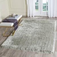 Safavieh Handmade Plush Memory Foam Shag Silver Polyester Rug - 8' x 10'