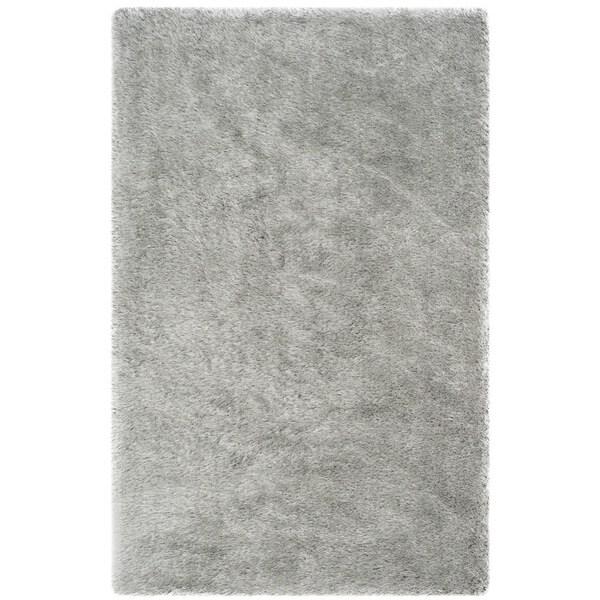 Safavieh Handmade Plush Memory Foam Shag Silver Polyester Rug (8' x 10')