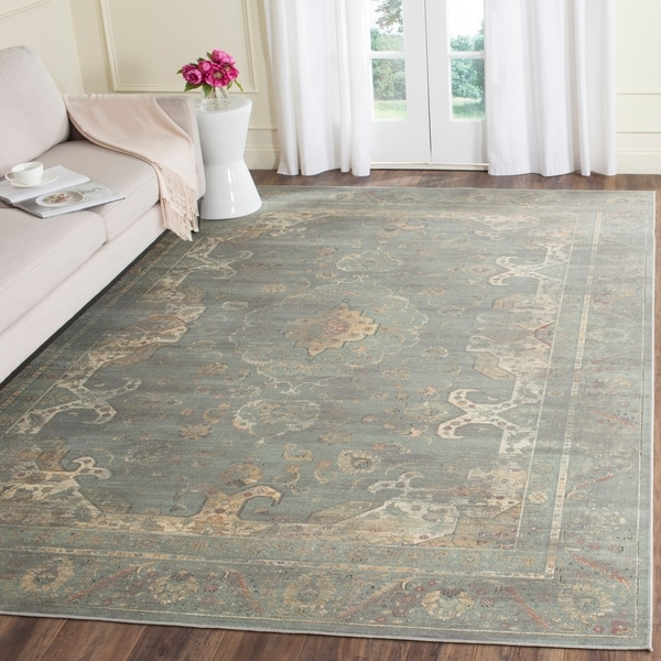 Safavieh Vintage Oriental Grey Multi Distressed Silky Viscose Rug 8 X27