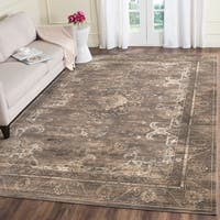 Safavieh Vintage Oriental Soft Anthracite Distressed Silky Viscose Rug - 8' x 11'2