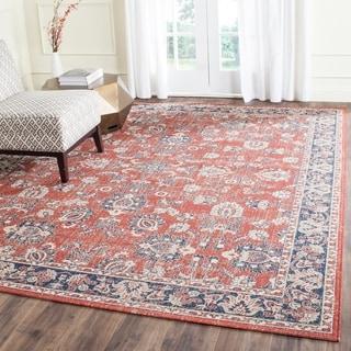 Safavieh Artisan Rust/ Navy Cotton Rug (8' x 10')