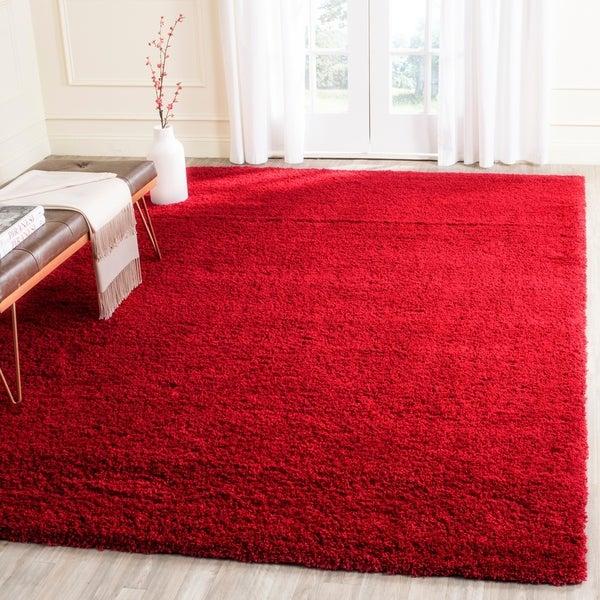 Safavieh Laguna Shag Red Rug - 8' x 10'