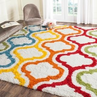 Safavieh Kids Shag Ivory/ Multi Rainbow Area Rug (8'9 x 12')
