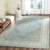 Safavieh Hand-Knotted Kenya Ivory/ Blue Wool Rug - 9' x 12'