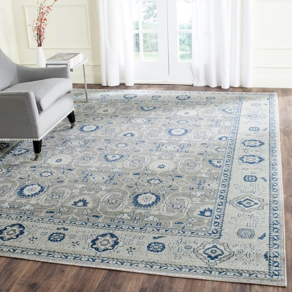 Safavieh Artisan Vintage Grey/ Silver Distressed Area Rug - 9' x 12'
