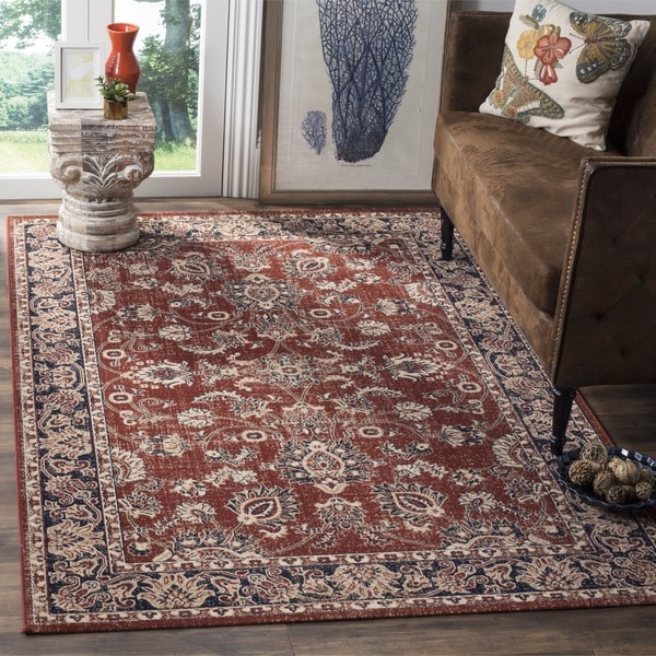 Blue Outdoor Rug 9x12: Safavieh Artisan Vintage Rust/ Navy Distressed Area Rug