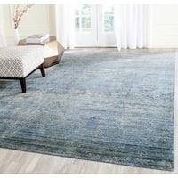 Safavieh Mystique Watercolor Serene Blue/ Multi Silky Rug (9' x 12')