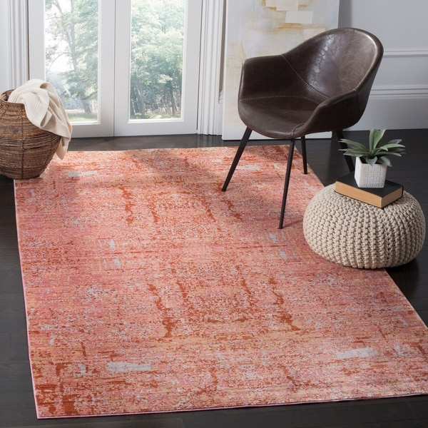 Safavieh Mystique Watercolor Rose/ Multi Silky Rug - 9' x 12'