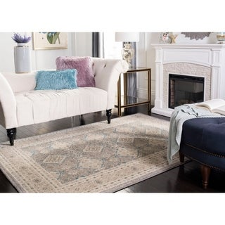 Safavieh Sofia Vintage Diamond Light Grey / Beige Distressed Rug (9' x 12')
