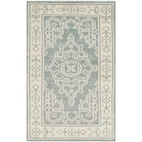 Safavieh Hand-Knotted Kenya Ivory/ Blue Wool Rug - 2' x 3'