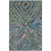 Safavieh Handmade Nantucket Blue Cotton Rug - 2' x 3'