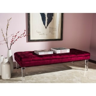 Safavieh Abrosia Red Acrylic Leg Bench