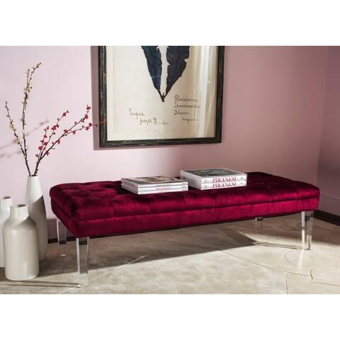 "Safavieh Abrosia Red Acrylic Leg Bench - 62.6"" x 23.4"" x 18.1"""