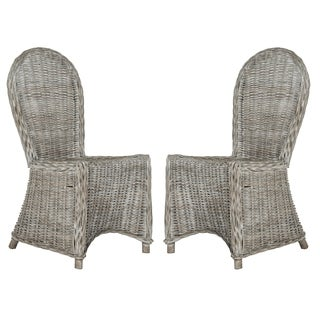 Safavieh Rural Woven Dining Idola White Washed Side Chairs (Set of 2)