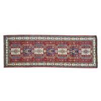 Runner Handmade Pure Wool Red Super Kazak Oriental Rug