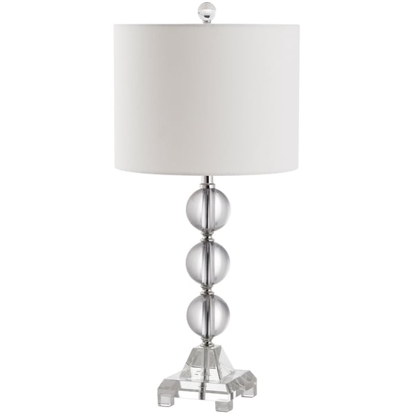 Safavieh Lighting 24-inch Fiona Crystal Clear Table Lamp
