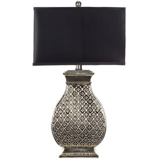 rilletta leaf silver table gray metallic design product home lamp contemporary lamps light lin