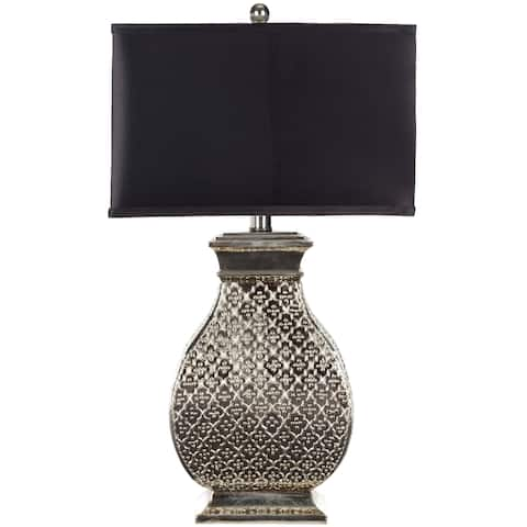 "Safavieh Lighting 30-inch Malaga Silver Table Lamp - 16""x11""x29"""