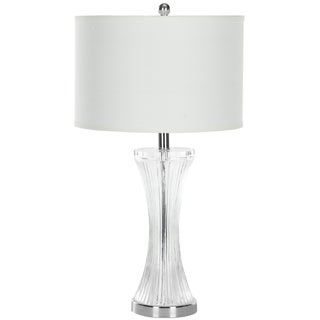 Safavieh Lighting 25-inch Zelda Glass Clear Table Lamp