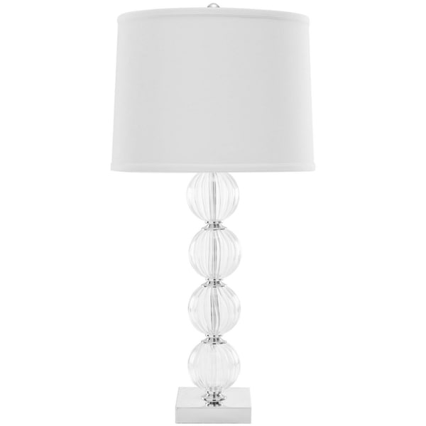 Safavieh Lighting 30-inch Amanda White Crystal Glass Globe Table Lamp