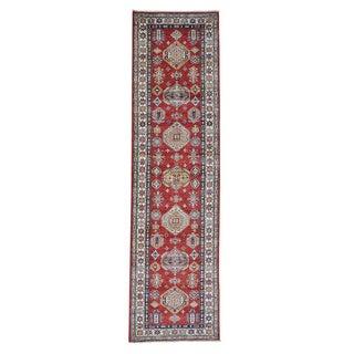 Geometric Design Super Kazak Runner Oriental Rug (2'8 x 9'10)