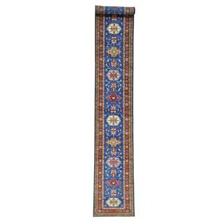 Handmade XL Runner Super Kazak Oriental Rug Pure Wool (2'5 x 18'5)