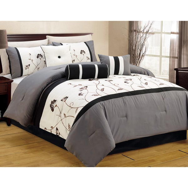 Journee Home 'Ayora' 7 pc Embroidered Comforter Set