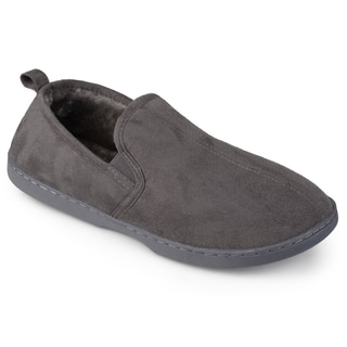 Perry Ellis Men's Moccasin Microsuede Slippers