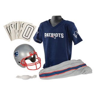 Franklin Sports NFL New England Patriots Deluxe Youth Uniform Set (Medium)