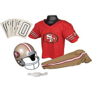 Franklin Sports NFL SF 49ers Deluxe Youth Uniform Set (Small)