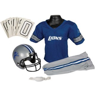 Franklin Sports NFL Detroit Lions Deluxe Youth Uniform Set (Small)