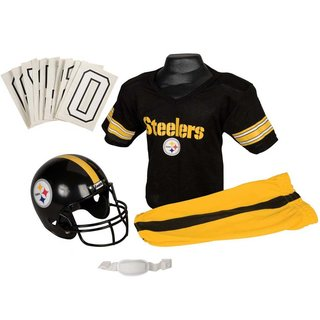 Franklin Sports NFL Pittsburgh Steelers Deluxe Youth Uniform Set (Small)