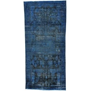 Gallery Size Worn Down Persian Nahavand Handmade Rug (4'6 x 9'4)