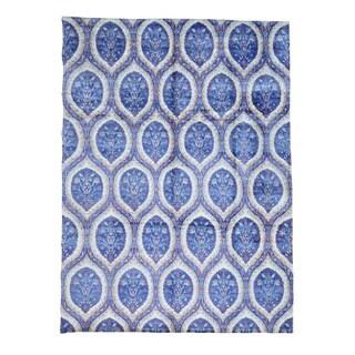 Mughal Design Rayon from Bamboo Silk Handmade Oriental Rug (10' x 13'10)