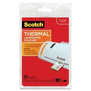 Scotch Business Card Size Thermal Laminating Pouch - 20/PK