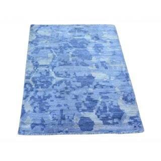 Hand-knotted Rayon from Bamboo Silk Modern Beehive Design Oriental Rug (2' x 3')