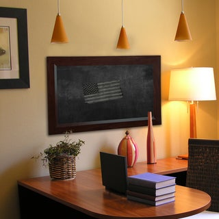 American Made Rayne Dark Walnut Blackboard/Chalkboard