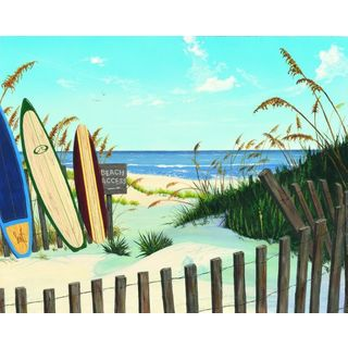 Scott Westmoreland 'Beach Access' Gallery Wrapped Canvas