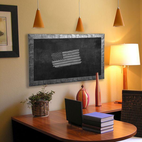 American Made Rayne Safari Silver Blackboard/Chalkboard