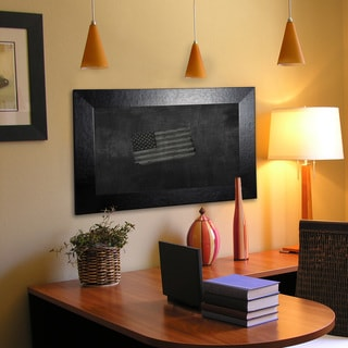 Ameican Made Rayne Black Wide Leather Blackboard/Chalkboard