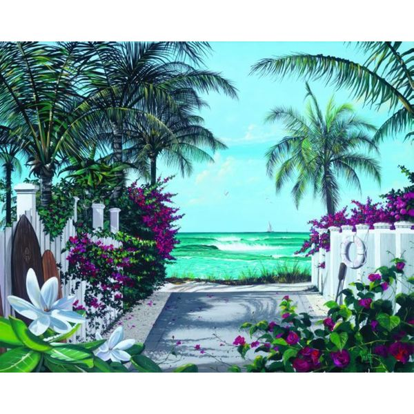 Scott Westmoreland 'Pathway Paradise' Gallery Wrapped Canvas
