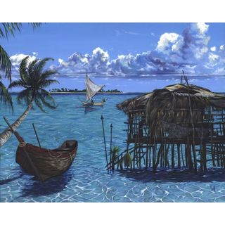 Scott Westmoreland 'Caribbean Dreams' Gallery Wrapped Canvas
