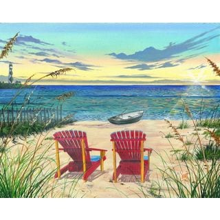 Scott Westmoreland 'Outer Banks Sunrise' Gallery Wrapped Canvas