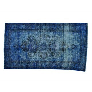 Handmade Semi Antique Overdyed Bakhtiari Pure Wool Rug (4'3 x 7'8)