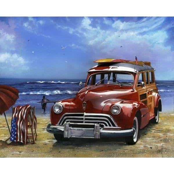 Scott Westmoreland 'Surfin USA' Gallery Wrapped Canvas - Blue