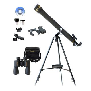 3-piece Galileo Telescope/ Binocular and Smartphone Adapter Set