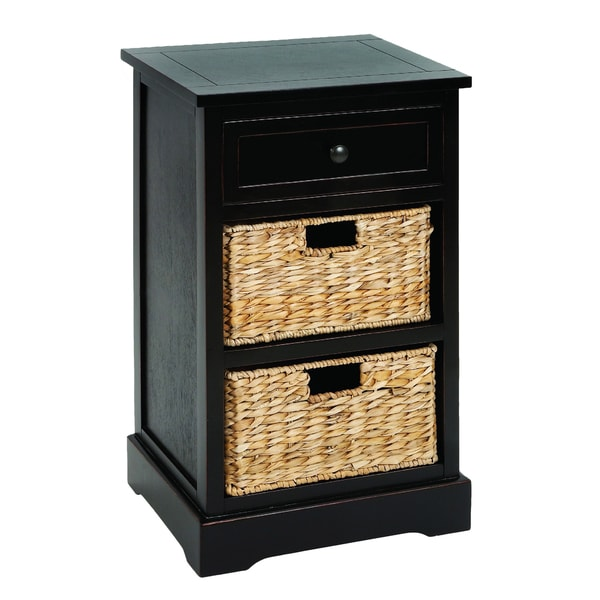 Wood Side Tables With Storage ~ Malibu drawer storage wood side table nightstand free
