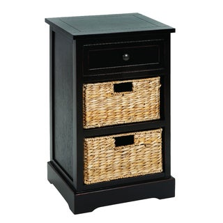 Malibu 3-drawer Storage Wood Side Table Nightstand